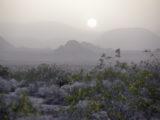 Sunset over Mojave Desert, California